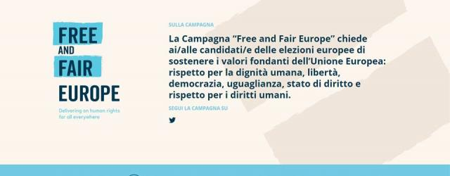 FREE AND FAIR EUROPE: ACAT FA APPELLO AI CANDIDATI